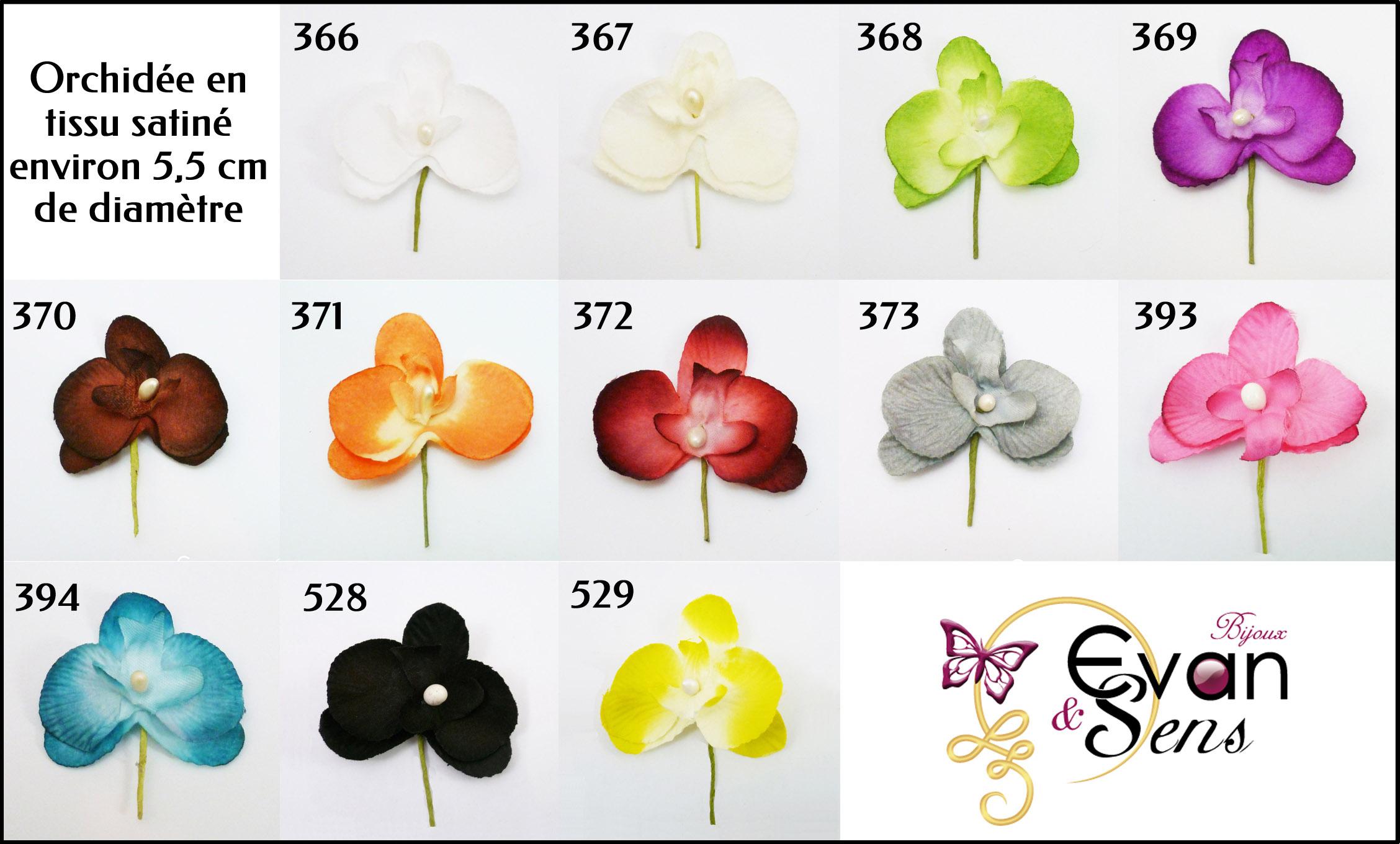 Plaquette de couleur orchidée en tissu